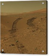 Roving Across Mars 2 - Mars Light Acrylic Print