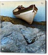 Row Boat On Shore Acrylic Print