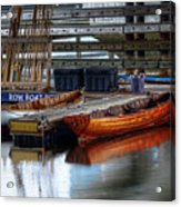 Row Boat Rental Acrylic Print