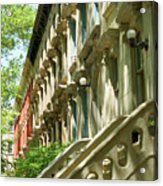 Row Houses In White Acrylic Print