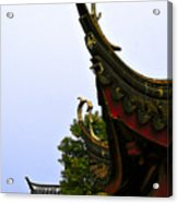 Row Of Chinese Rooftops Acrylic Print
