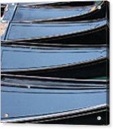 Row Of Gondolas In Venice Acrylic Print