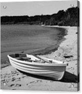 Rowboat On The Beach Acrylic Print