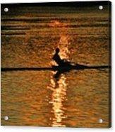 Rowing At Sunset 3 Acrylic Print