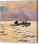 Rowing Home Acrylic Print by Winslow Homer
