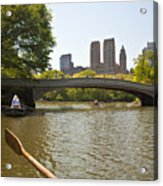 Rowing In Central Park Acrylic Print