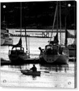 Rowing To Shore Acrylic Print