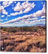 Rows Of Clouds Over Sonoran Desert Acrylic Print