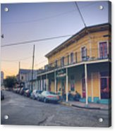 Royal And Touro Streets Sunset In The Marigny Acrylic Print