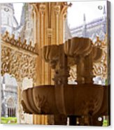 Royal Cloister Of The Batalha Monastery Acrylic Print