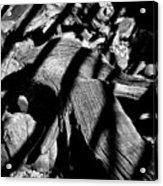 Royal Deadwood Striped Acrylic Print