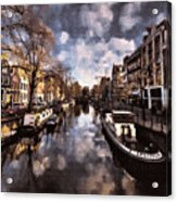 Royal Dutch Canals Acrylic Print
