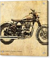 Royal Enfield Classic Chrome 2016, Poster For Men Cave Acrylic Print