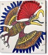 Royal Flycatcher- Mayan 2 Acrylic Print