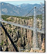 Royal Gorge Bridge In Summer Acrylic Print