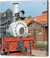 Royal Gorge Train And Depot Acrylic Print