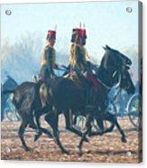 Royal Horse Artillery Painted Acrylic Print