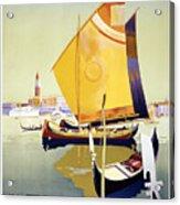 Royal Mail Atlantis Autumn Cruises Vintage Travel Poster Acrylic Print