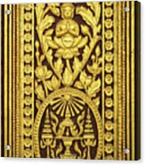 Royal Palace Gilded Door 01 Acrylic Print