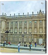 Royal Palace In Madrid In A Beautiful Summer Day, Spain Acrylic Print