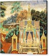 Royal Palace Ramayana 13 Acrylic Print