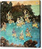 Royal Palace Ramayana 16 Acrylic Print