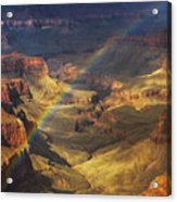 Royal Rainbow Acrylic Print by Peter Coskun