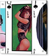 Royal Straight Flush Spades 1 Acrylic Print