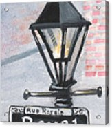 Royal Street Lampost Acrylic Print
