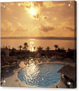 Royal Suite In The Dead Sea Spa Hotel Acrylic Print by Richard Nowitz