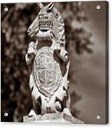 Royal Unicorn - Sepia Acrylic Print
