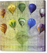 Roygbiv Balloons Acrylic Print