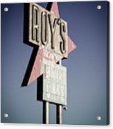 Roys Motel And Cafe Acrylic Print