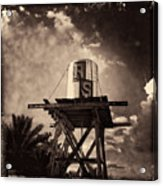 Rs Water Tower Sepia Acrylic Print
