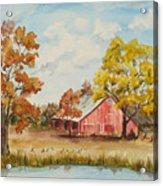 Rt 66 Barn In Bristow Oklahoma Acrylic Print