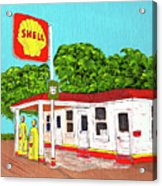 Rt 66 Shell Station Acrylic Print
