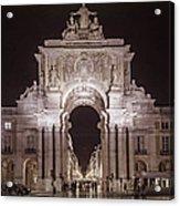 Rua Agusta Arch Lisbon Textured II Acrylic Print