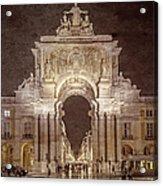 Rua Agusta Arch Lisbon Textured Acrylic Print