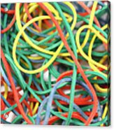 Rubber Bands Acrylic Print