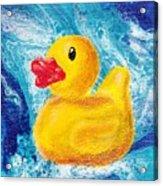 Rubber Ducky Acrylic Print