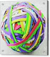 Rubberband Ball I Acrylic Print