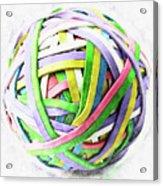 Rubberband Ball II Acrylic Print