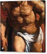 Rubens Descent From The Cross Detail Outside Left Peter Paul Rubens Acrylic Print