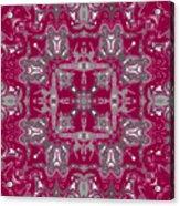 Rubies And Silver Kaleidoscope Acrylic Print