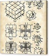 Rubik's Cube Patent 1983 - Vintage Acrylic Print