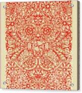 Rubino Red Floral Acrylic Print