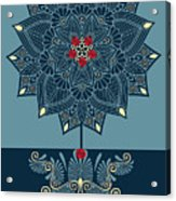 Rubino Zen Flower Acrylic Print