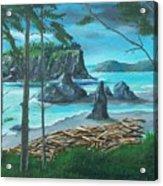 Ruby Beach Acrylic Print
