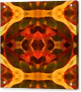 Ruby Crystal Pattern Acrylic Print