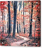 Ruby Forest Acrylic Print